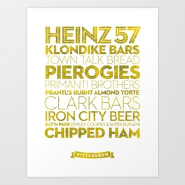 Pittsburgh — Delicious City Prints Art Print