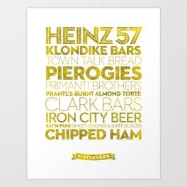 Pittsburgh — Delicious City Prints Art Print