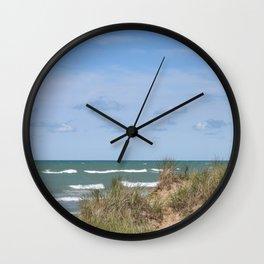 Lake Michigan On Labor Day #lake #Michigan Wall Clock