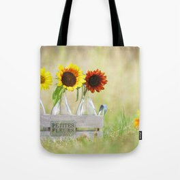 Country life sunflower idyll Tote Bag