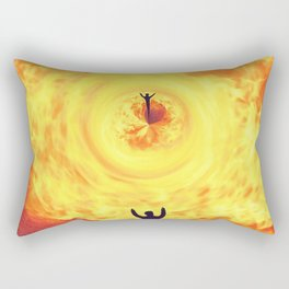 Through the Fire Rectangular Pillow