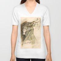thranduil V-neck T-shirts featuring Thranduil of Mirkwood by ZumiTheWolf