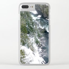 Cold stream Clear iPhone Case