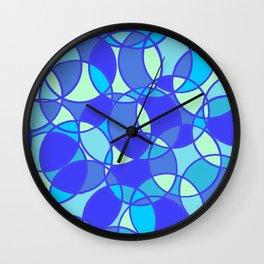 Circles, in blue Wall Clock