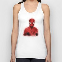 spider man Tank Tops featuring Spider-Man by KitschyPopShop