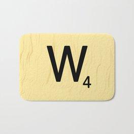 Scrabble Q Initial - Large Scrabble Tile Letter Bath Mat