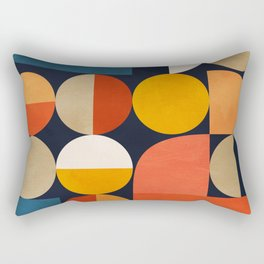 mid century geometric abstract Rectangular Pillow