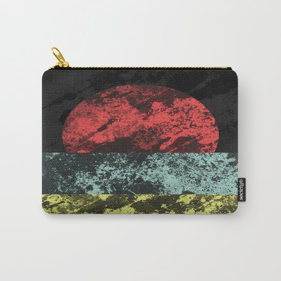 Sunset Beach - Abstract, marble effect, geometric painting Carry-All Pouch