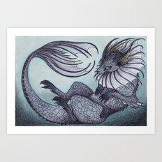 the Water Type Art Print