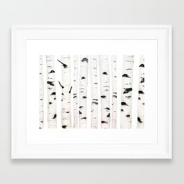 birch horizontal Framed Art Print