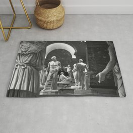 History of the World Through Renaissance Statues black and white photograph / black and white art photography Rug