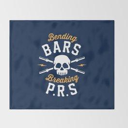 Bending Bars Breaking PRs Throw Blanket