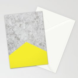 Concrete Arrow - Yellow #193 Stationery Cards