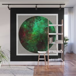 Captured Space - Abstract, geometric, outer space themed art Wall Mural