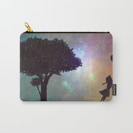 Girl with balloons Carry-All Pouch