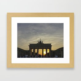 Brandenburg Gate, Berlin Framed Art Print