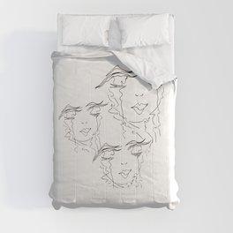 Zen Soul Awakening Abstract Face Art No.4 Comforters