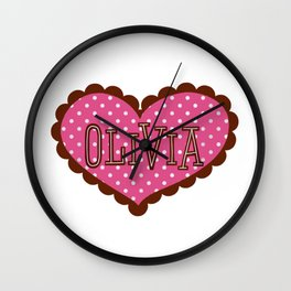 Valentine for girls Wall Clock