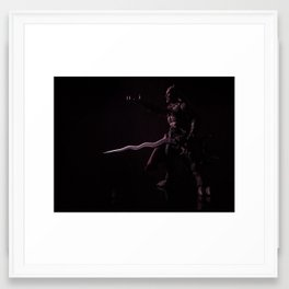 Kain in Shadow Framed Art Print