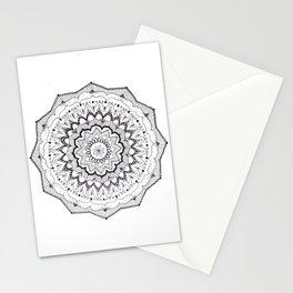 determination - monochrome boho mandala Stationery Cards