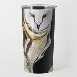 Barn Owl Nature Acrylic Rocky Travel Mug