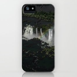 Brazil. Argentina. Paraguay. Waterfall.  iPhone Case