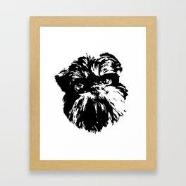 Brussels Griffon Dog Framed Art Print