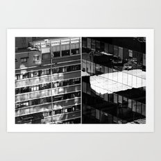 Building and Reflecting Art Print
