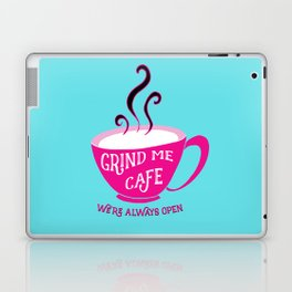 Grind Me Cafe - Blue Laptop & iPad Skin