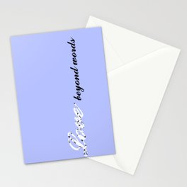 Love Beyond Words (Light Blue) Stationery Cards
