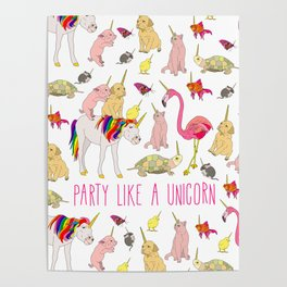Party Like A Unicorn Poster