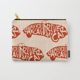 Baby You Can Drive My Car (Red) Carry-All Pouch