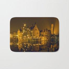 Night at Brugge Bath Mat