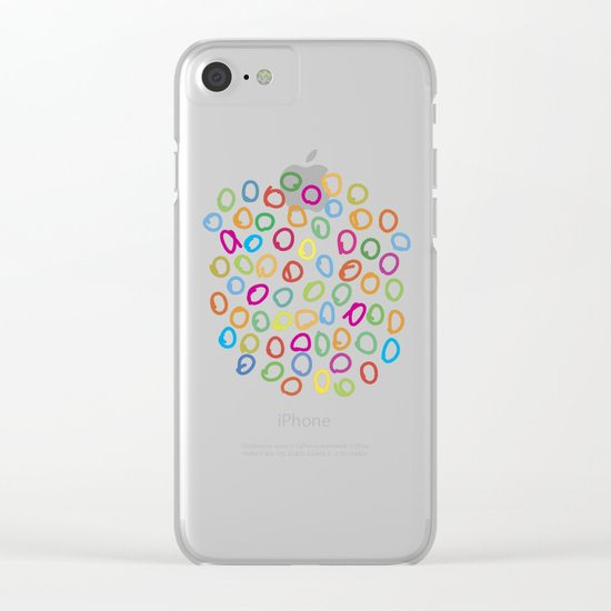 Lovely Pattern V Clear iPhone Case
