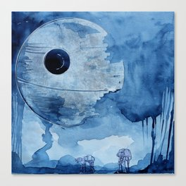 That's no moon.  Canvas Print