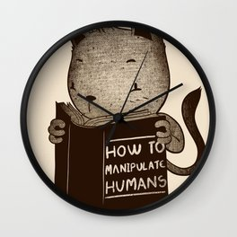 Cat Book How To Manipulate Humans Wall Clock