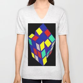 Rubik's Cube Pop Art Unisex V-Neck
