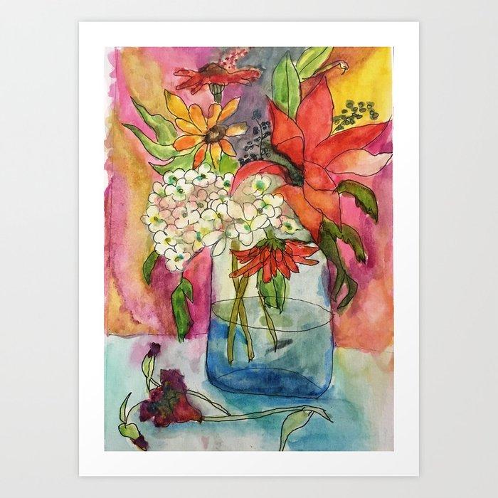 Fall Flower Bouquet Kunstdrucke