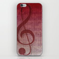 Red Pink Grunge Music Sounds iPhone Skin