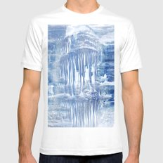 Ice Scape 1 White Mens Fitted Tee MEDIUM