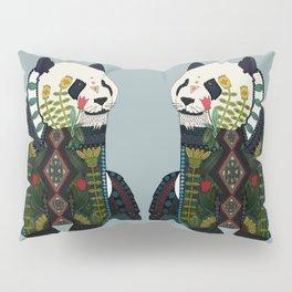 panda silver Pillow Sham