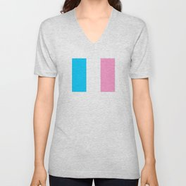 Parody of the french flag -France,Paris, pink, Marseille, lyon, Bordeaux,love, girly,fun,idyll,Nice Unisex V-Neck