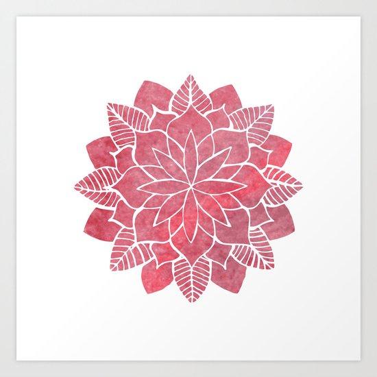 Red Mandala Art Print