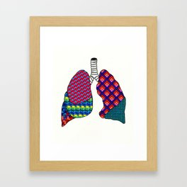 Geometric Lungs Framed Art Print