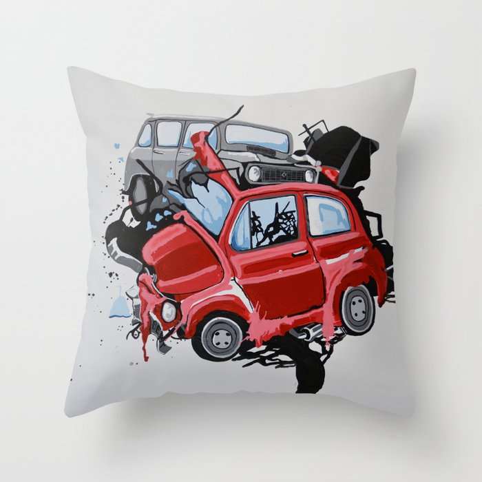 Carsharing Throw Pillow