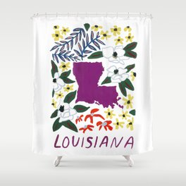 Louisiana + Florals Shower Curtain