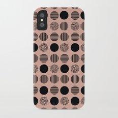 old pink circles iPhone X Slim Case