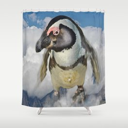Flying Jack Shower Curtain