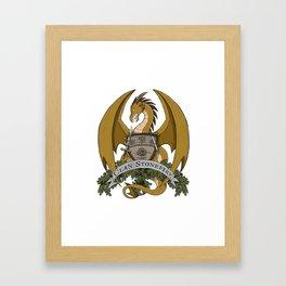 Clan Stonefire Crest - Gold Dragon Framed Art Print