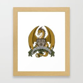 Clan Stonefire Crest - Gold Dragon Framed Art Print